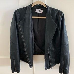 Cropped faux leather Jack by BB Dakota jacket